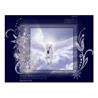 Serie de la etiqueta del unicornio del vuelo del d postales