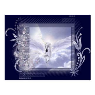 Serie de la etiqueta del unicornio del vuelo del postales