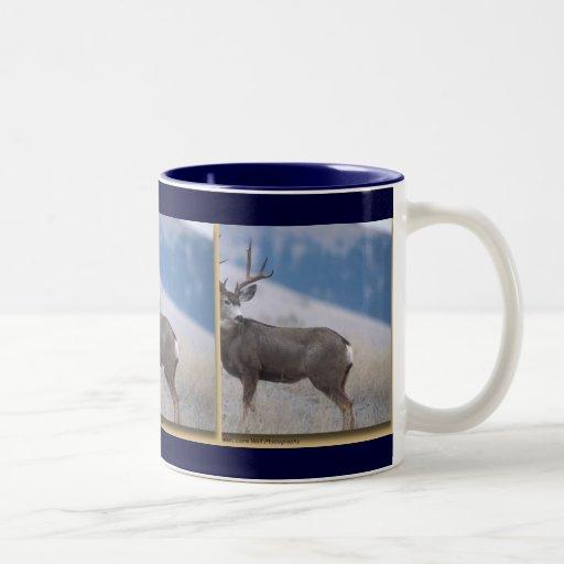 Serie de la fauna taza de café de dos colores