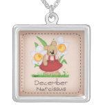 Serie de la flor del nacimiento de diciembre del o colgante personalizado