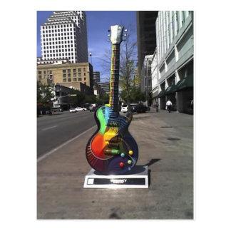 Serie de la guitarra postales