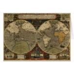 Serie de la historia del mapa de Viejo Mundo del v Tarjetas