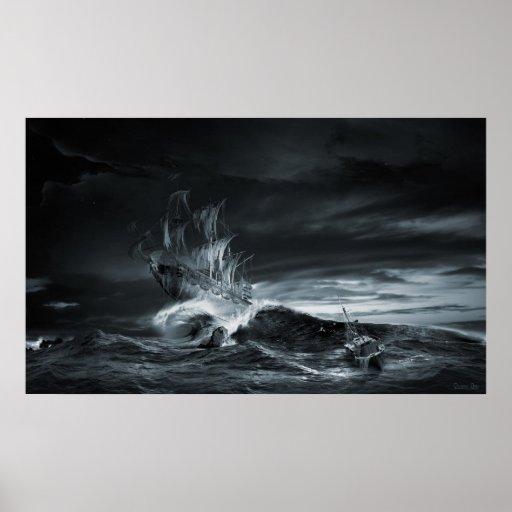 Serie de la nave del fantasma: La novena onda Póster