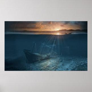 Serie de la nave del fantasma: Naufragio del pirat Posters