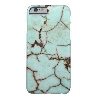 Serie de la piedra preciosa - turquesa agrietada funda de iPhone 6 barely there