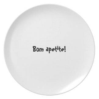 Serie de la placa del appetit del Bon - apetite de Plato De Comida