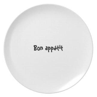 Serie de la placa del appetit del Bon - appétit fr Platos