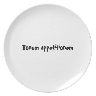 Serie de la placa del appetit del Bon - appetition Plato De Comida