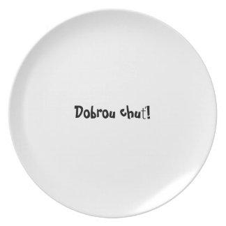 Serie de la placa del appetit del Bon - chuť de Platos