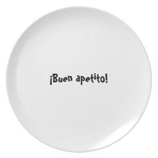 Serie de la placa del appetit del Bon - españoles Plato De Comida