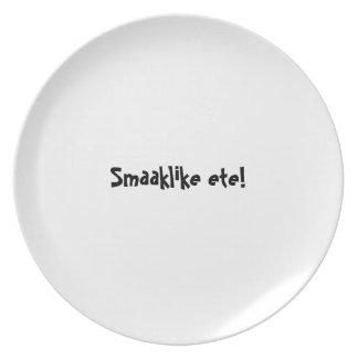 Serie de la placa del appetit del Bon - ete de Sma Platos De Comidas