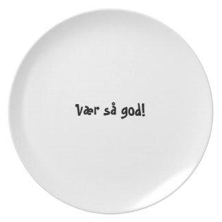 Serie de la placa del appetit del Bon - noruego - Plato