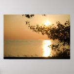 Serie de la puesta del sol de Southampton Poster
