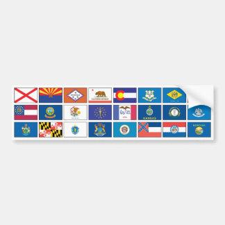 Serie de las banderas - #1 pegatina para auto