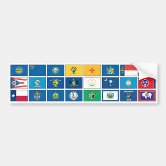 Serie de las banderas - #2 pegatina para auto