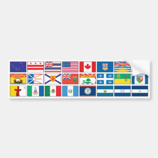 Serie de las banderas - #3 pegatina para auto