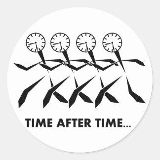 Serie de los idiomas del tiempo - repetidas veces etiquetas redondas