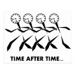 Serie de los idiomas del tiempo - repetidas veces postal
