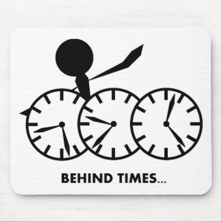 Serie de los idiomas del tiempo - tiempos de Behin Tapetes De Ratones