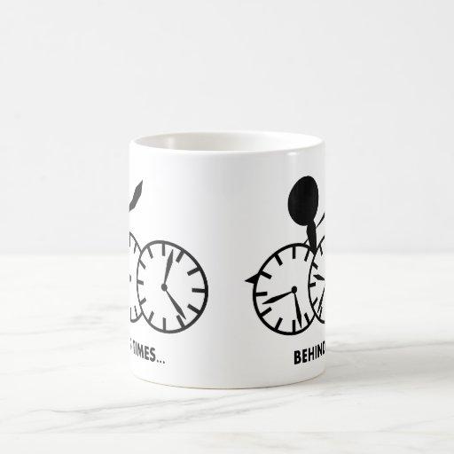 Serie de los idiomas del tiempo - tiempos de Behin Tazas De Café
