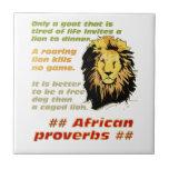 Serie de los proverbios del león azulejo