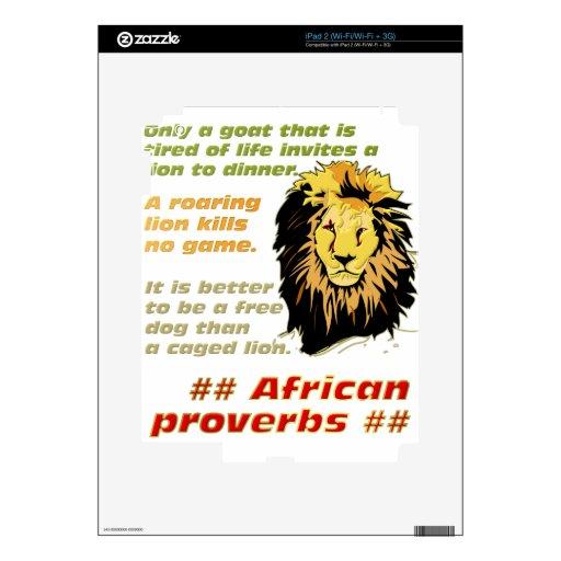 Serie de los proverbios del león iPad 2 skins