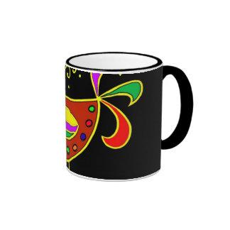 Serie de los símbolos de Pysanky: Gallina Tazas De Café