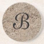 Serie de mármol--Práctico de costa de Brn del more Posavasos Diseño