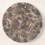 Serie de mármol--Práctico de costa de Brown--1 de  Posavasos Para Bebidas