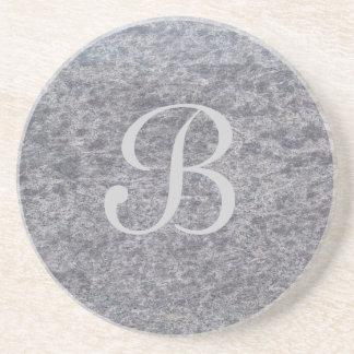 Serie de mármol--Práctico de costa gris--1 de much Posavasos Personalizados