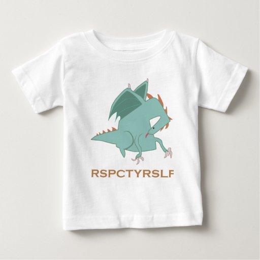 Serie de motivación del dragón del RESPECTO USTED Playera