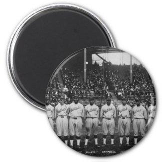 Serie de mundo coloreada del equipo de béisbol del iman de nevera
