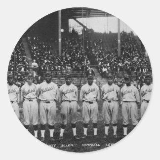 Serie de mundo coloreada del equipo de béisbol del pegatina redonda