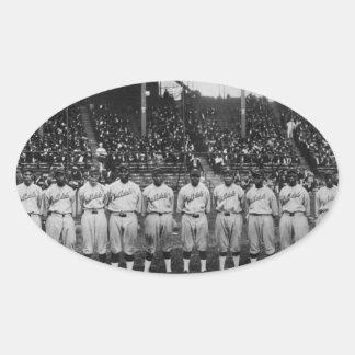 Serie de mundo coloreada del equipo de béisbol del calcomanía de oval