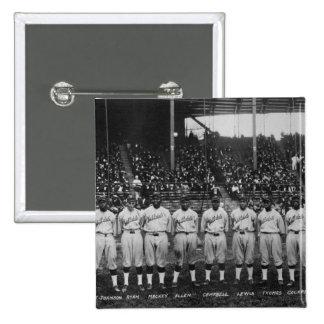 Serie de mundo coloreada del equipo de béisbol del pin cuadrado