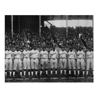 Serie de mundo coloreada del equipo de béisbol del tarjetas postales