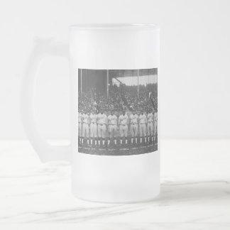 Serie de mundo coloreada del equipo de béisbol del taza de café