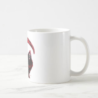 Serie de neón del jinete del parca de la sangre po tazas de café