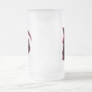 Serie de neón del jinete del parca de la sangre po taza