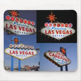 Serie de neón retra: Muestra de Lss Vegas Tapete De Ratones