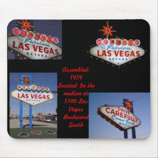 Serie de neón retra: Muestra de Lss Vegas Tapetes De Ratones
