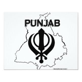 """Serie de Punjab Invitación 4.25"""" X 5.5"""""""