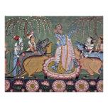 Serie de Râgmâlâ de la escena: Krishna con su flau Comunicados