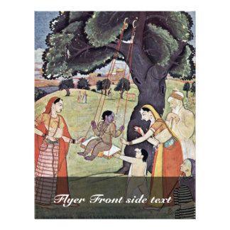 Serie de Râgmâlâ de la escena: Krishna en el oscil Tarjeton