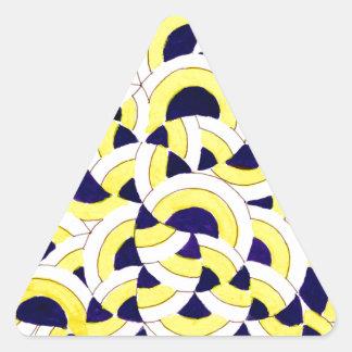 Serie de Seigaiha - júntese Pegatinas De Triangulo