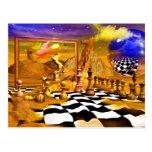 Serie del ajedrez, pinturas del ajedrez, arte del postal