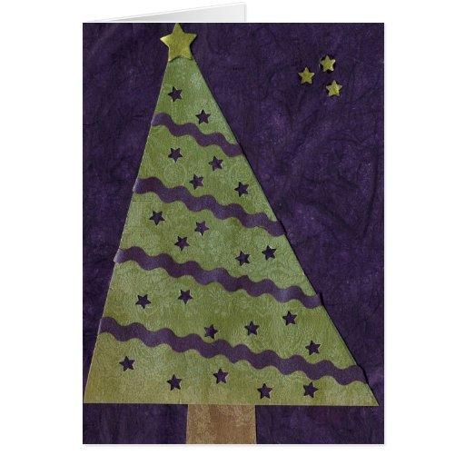 Serie del árbol de navidad del collage # 3 tarjeta de felicitación