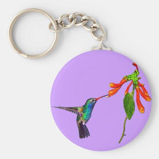 Serie del arte de los Pájaro-amantes salvajes del  Llaveros