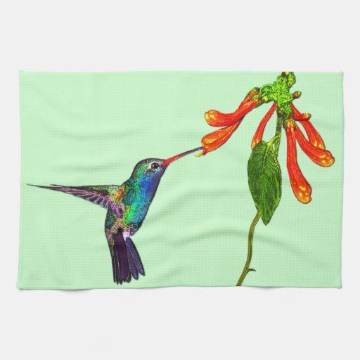 Serie del arte de los Pájaro-amantes salvajes del  Toallas De Mano