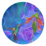 Serie del arte de los Pájaro-amantes salvajes del  Plato De Comida